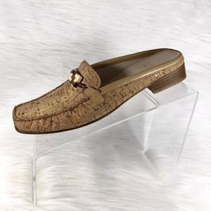 Stuart Weitzman Mules Loafers Tan Leather Size 9 M